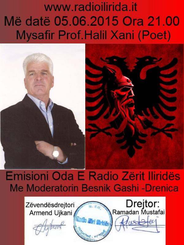 Emisioni Oda e Radio Zërit Iliridës  Mysafir Prof.Halil Xani (Poet) Moderator Basnik Gashi Drenica